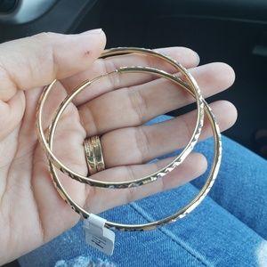 14k gold hoops...ARRACADAS
